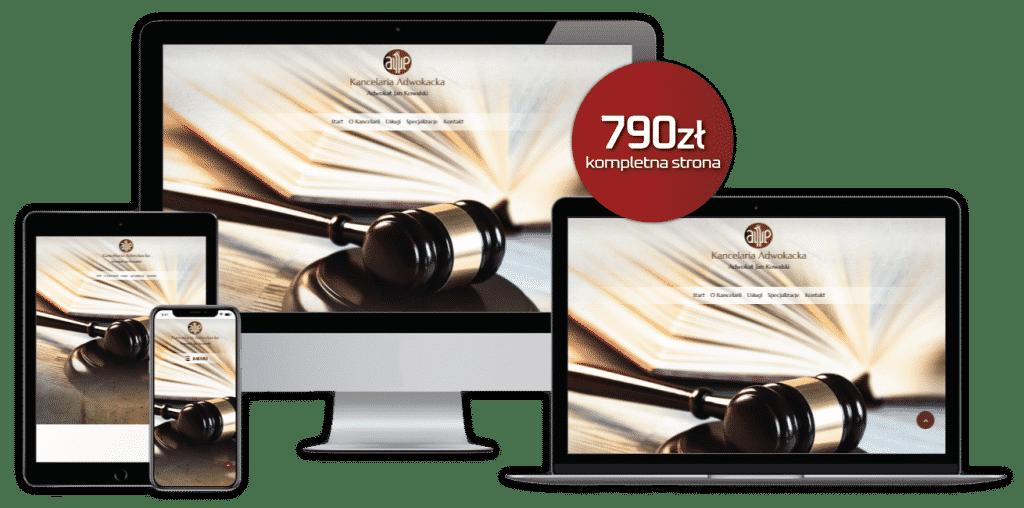 Szablon strony www dla kancelarii prawnych