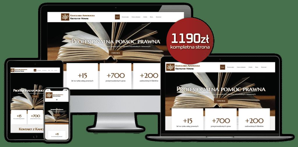 Strona internetowa dla prawników